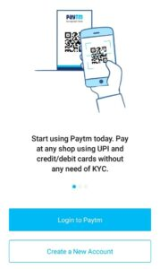 PAYTM CREATE ACCOUNT
