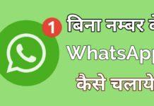 bina number ke whatsapp kaise chalaye