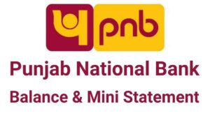 PNB Balance Enquiry mini statement