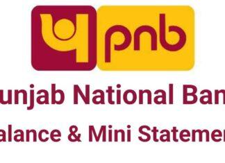 PNB Balance Enquiry mini statement