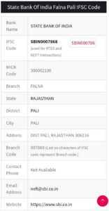bank ifsc code number