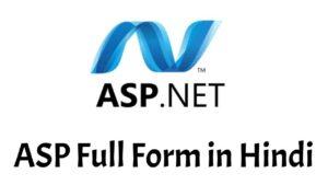 ASP Full Form